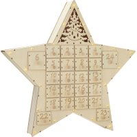 Linea Wooden Star Advent, N/A