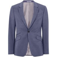 Mens Blue Marl Muscle Fit Suit Jacket, Blue