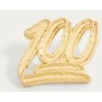 Pintrill 100 Pin Badge, Gold