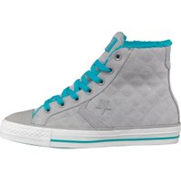 Converse Star Player Hi Fur Collar Trainers Stone/Blue/White