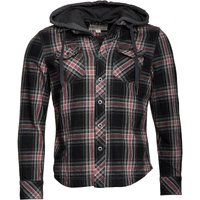 Converse Mens Heavy Flannel Checked Hooded Jacket Multi