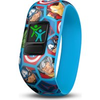 GARMIN vivofit jr 2 Kid's Activity Tracker - Marvel Avengers, Stretchy Band -, Black