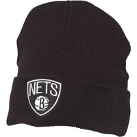 Mitchell & Ness Mens Brooklyn Nets Cuff Knit Beanie Black