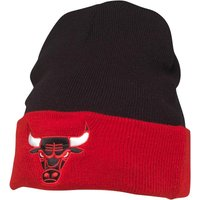 Mitchell & Ness Mens Chicago Bulls 2 Tone Cuff Knit Beanie Black