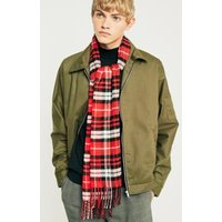 UO Red Plaid Scarf, red