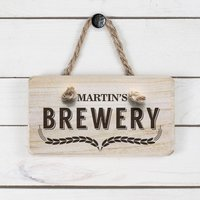 Personalised Wooden Home Brewery Sign