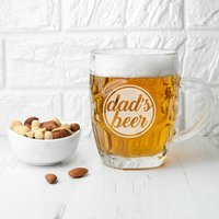 Personalised Statement Dimpled Beer Glass