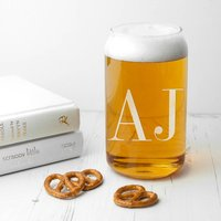 Personalised  Monogrammed Can Glass