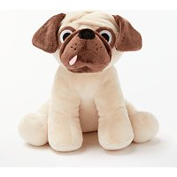John Lewis & Partners Pug Plush Soft Toy, Brown