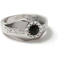 Mens Silver Stone Ring*, SILVER