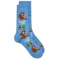 Mens Blue 'Chimpin Ain't Easy' Socks, Blue