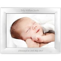 StompStamps Personalised Silver Plated Photo Frame 5 x 7 (13 x 18cm)