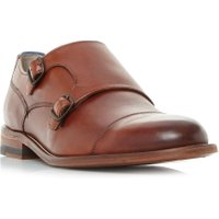 Oliver Sweeney Marston Double Buckle Monk Shoes, Tan