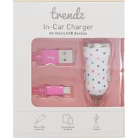 KitSound PW USB In Car Charger, Pink
