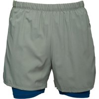 Asics Mens 2 In 1 5 Inch Running Shorts Eucalyptus