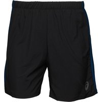 Asics Mens 7 Inch Running Shorts Black/Poseidon