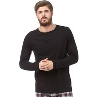 Brave Soul Mens PK A Grandad Lounge Top Black