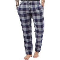 Brave Soul Mens Woven Flannel Lounge Pants Navy/Grey/Red Check