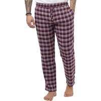 Brave Soul Mens Woven Flannel Lounge Pants Wine/Blue Check