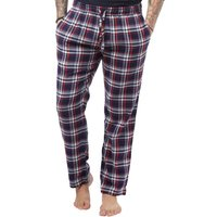 Brave Soul Mens Woven Flannel Lounge Pants Navy/Red Check