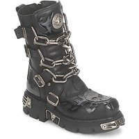 New Rock  CHAOTIC  men's Mid Boots in Black