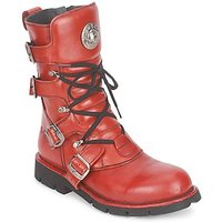 New Rock  FEARLESS  men's Mid Boots in Red