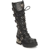 New Rock  METALLIC 6  men's High Boots in Black