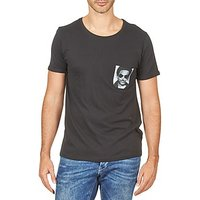 Eleven Paris  LENNYPOCK MEN  men's T shirt in White