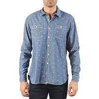 Barbour  LAWSON  men's Long sleeved Shirt in Blue