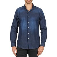 Faonnable  CASTIOL  men's Long sleeved Shirt in Blue