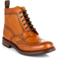 Loake  Mens Tan Bedale Leather Brogue Boots  men's High Boots in Brown