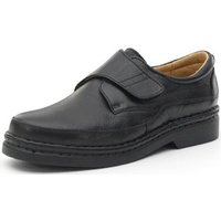 Calzamedi  comfortable shoes with Velcro sewn by hand  men's Casual Shoes in Black