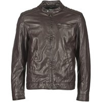 Benetton  HOULO  men's Leather jacket in Brown