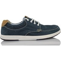 Clarks  NORWIN VIBE CANVAS  men's Boat Shoes in Blue