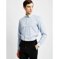 The Idle Man  Smart Shirt in Pale Blue  men's Long sleeved Shirt in Blue