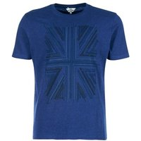 Ben Sherman  UNION JACK GRAPHIC  men's T shirt in Blue