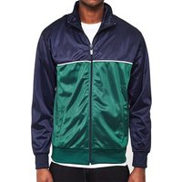 The Idle Man  Track Top Navy   Green  men's Tracksuit jacket in Blue