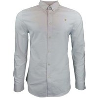 Farah  The Brewer LS Shirt  men's Long sleeved Shirt in White