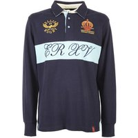 Ellis Rugby  Queens House R.F.C Rugby Top  men's Polo shirt in Blue