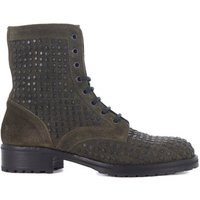 Lemar  Lemar green leather biker with studs  men's Low Ankle Boots in Green