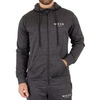 Nicce London  Men's Polytech Zip Hoodie, Black  men's Sweatshirt in Black