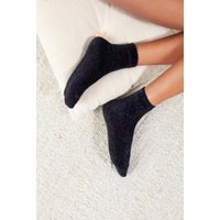 Out From Under Chenille Knit Socks, black