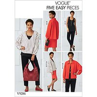 Vogue Women's Five Easy Pieces Sewing Pattern, 9286