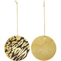 Linea Leopard Print & Gold Glitter Gift Tags, Gold