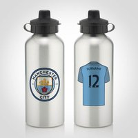 Personalised Man City Water Bottle