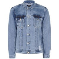 Mens Navy ANTIOCH Blue Western Denim Jacket*, Navy