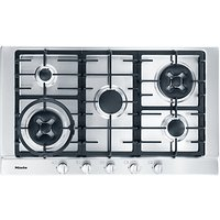 Miele KM2054 Gas Hob, Stainless Steel