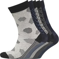 JACK AND JONES Mens Manuel Five Pack Socks Dark Grey Melange