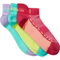 John Lewis & Partners Girls' Sports Trainer Sock Liners, Pack of 3, Multi