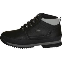Lacoste Mens Upton Hiker Leather Boots Black/Grey